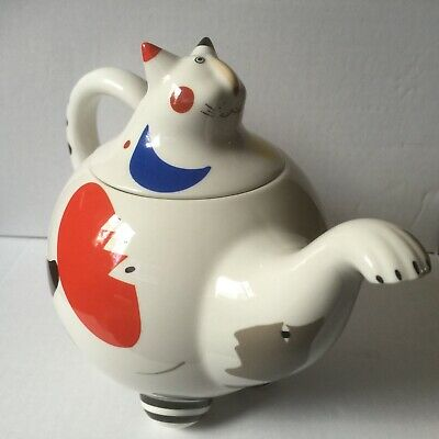 Villeroy & Boch Animal Park Tea Pot Cat Design Signed Excellent Condition • 45£