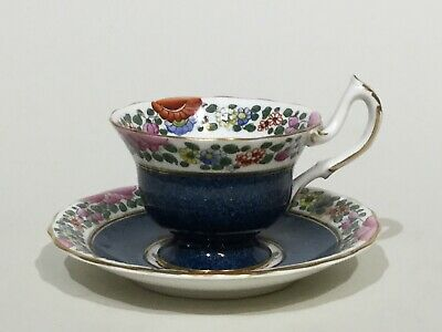 """Royal Worcester """" Parrot """" Coffee Cup & Saucer • 12.95£"""