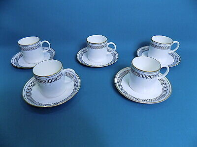 Wedgwood Susie Cooper Colosseum Coffee Cups & Saucers X 5 • 40£