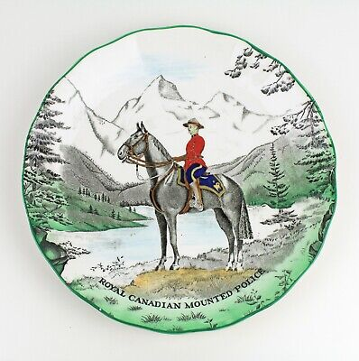 Clarice Cliff Confederation Series Mountie Canada Royal RCMP Staffordshire Plate • 42£
