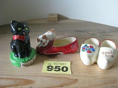 Manor Ware Collection Good Luck Cat Shoes Dog Aberavon Souvenirs Collectible   • 6.99£