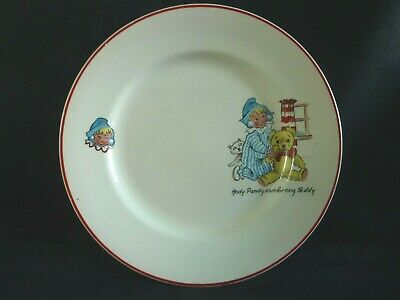 Vintage Andy Pandy Comforting Teddy Tea Plate Nursery Ware • 14.50£