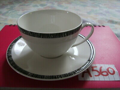 DENBY BETTY JACKSON BLACK CUP & SAUCER In Perfect Condition • 12£