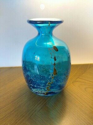 Gozo Glass Vase In An Unusual Sea And Sand Colour Combination • 21.99£