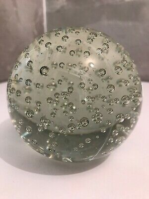 Large Clear Glass Bubble Paperweight Slight Tint Of Green • 5.99£