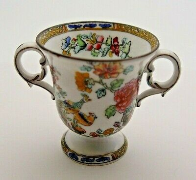 MINIATURE SPODE COPELAND'S CHINA TWIN HANDLED VASE C.1900's - PERFECT • 9.99£