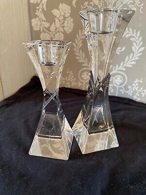 Nachtmann Crystal Candlesticks Immaculate Condition • 4£