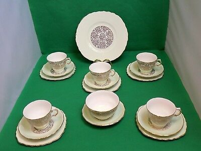 Royal Vale Harlequin Gold / Mint Tea Set  • 49£