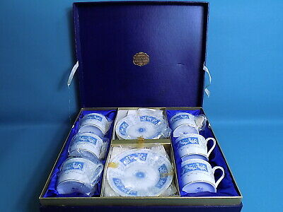 Coalport Revelry Straight Sided Tea Cups & Saucers X 6 • 49£