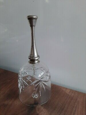 Glass And Silver Metal Bell • 0.99£