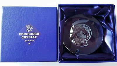 Edinburgh Crystal Paper Weight Trophy In Box NSRA Eley Competition 2006 • 11.99£