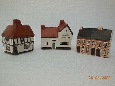 Mudlen End Studio ~ Set Of 3 Collectable Pottery Houses • 14£