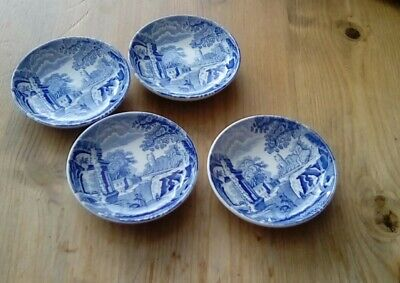 Spode Blue Italian 4 X Pin / Olive / Dip Dishes. • 2.99£