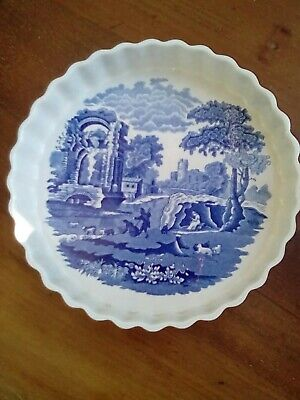 Spode Blue Italian. Oven To Table . Flan Dish • 2.99£