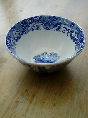 Spode Italian Blue And White Small Cereal Or Soup Bowl • 2.99£
