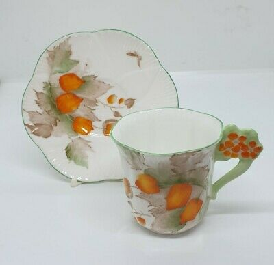 Shelley Dainty Teacup And Saucer With Floral Handle Pattern 2226 • 129.99£