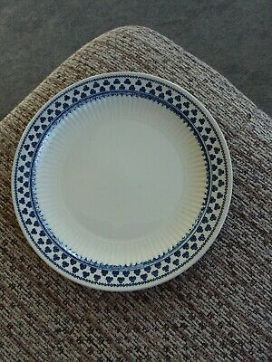 Adams Brentwood Side / Salad Plate Blue And White Shamrock/clover Design • 2£
