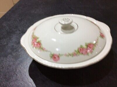 Maddock, Rosary, Fairfield, Pink Rose, Round Vegetable Dish And Two Oval Plates • 19.99£