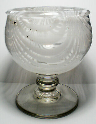 A White Trailed Glass Nailsea Type Sugar Bowl C.1850 • 9.99£