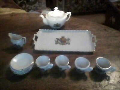 Vintage Gemma Miniature China Crested Tea Service With Tray • 10£