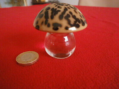 Orrefors Glass Mushroom Paperweight Signed By Artist 55mm H X 55mm W.Undamaged • 5.99£