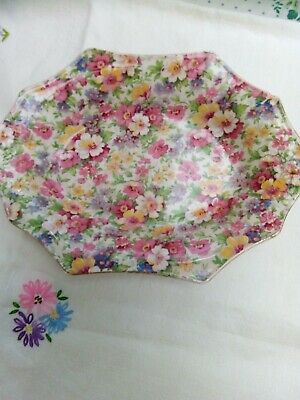 James Kent Chintz Pretty Shaped Dish.  Some Nibbles But On Mainly Back They Show • 3.50£
