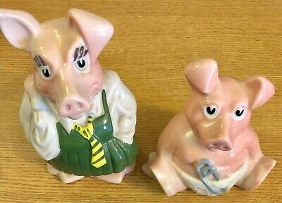 Genuine Vintage 2 X Wade NatWest Pigs Baby Woody & Annabel Excellent Condition • 10£