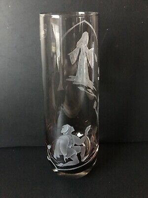 Caithness Romeo & Juliet Etched Vase Labelled & Inscribed To Base 23 Cm • 12.95£