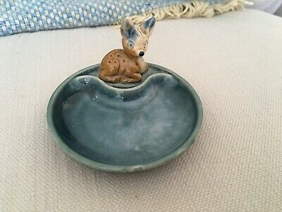 Wade Whimsy Whimsies Whimtray Fawn. Pin Trinket Dish Deer • 4.99£
