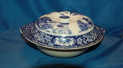 Vintage Unmarked Blue And White Lidded Tureen • 4.99£