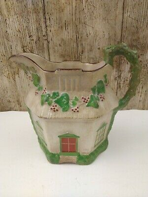 VERY OLD IVY COTTAGE WARE JUG Marked G C1820-40 See Photo Decorative Only  • 6£