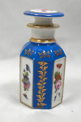 A Hand Painted Porcelain Perfume Flask, France C.1870 • 9.99£