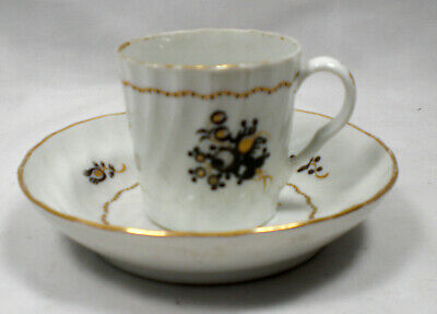 A Hand Painted Worcester Porcelain Cup And Saucer C.1810 • 9.99£