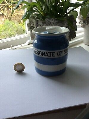 "Vintage T. G. Green Cornishware ""carbonate Of Soda"" Jar - Very Good Condition. • 9.99£"