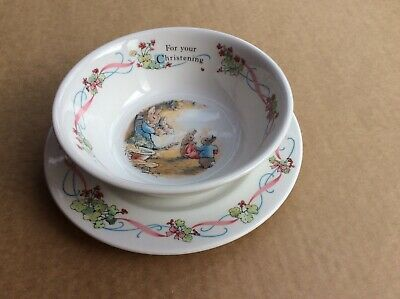 Peter Rabbit Plate And Bowl Set , Wedgewood, , CHRISTENING ,  • 10£