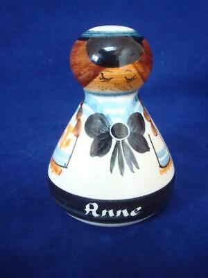 Jersey Pottery Vintage Doll Moneybox Named (anne) • 5£