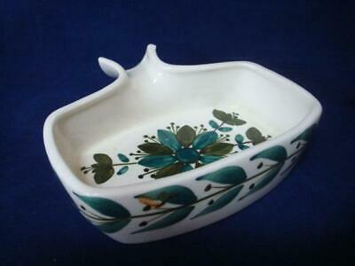 Jersey Pottery Vintage Rectangular Sauce / Gravy Dish With Pouring Handle (b) • 5£