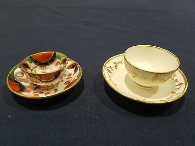 2 Miniature Cup And Saucers Incl Imari Colourway • 0.01£