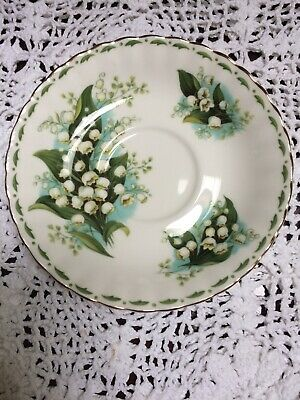 Royal Albert Flower Of The Month ~ May Lily-of-the-Valley ~ Saucer ~ 1st Quality • 3.99£