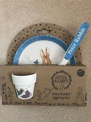 Peter Rabbit Bamboo Egg Cup Set, New And Unused • 5.99£