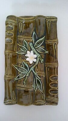 Vintage Ceramic Tray Bamboo 40s 50s  60s  Tiki  Hawaii Cigar Ashtray 6 X 10 Inch • 10£