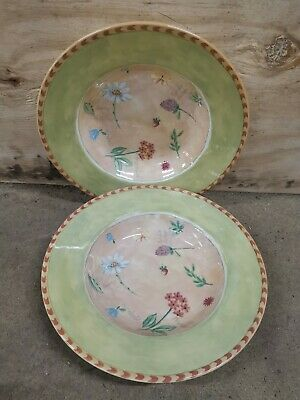 2 X Royal Stafford Gardeners Journal Soup Pasta Bowls Dishes • 9.95£