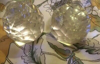 2  Late Victorian/Edwardian Cut-glass Decanter Stoppers. Each Over 200 Grams • 2£
