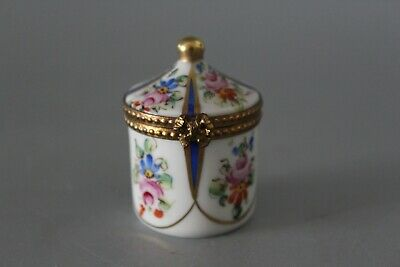 Limoges Hand Painted Trinket Box With Domed Lid • 25£
