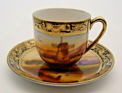 Vintage Oldmill China Noritake Style Japan Cup & Saucer - Signed - Perfect • 9.99£