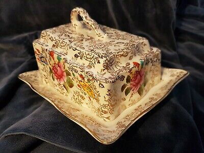 * Vintage 1950's James Kent English Chintz Butter Dish And Cover • 29£