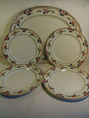 Antique S.Hancock & Sons Tokio Coronaware.Large Oval MeatPlatter.4 Dinner Plates • 17.95£