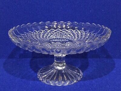 Vintage Pressed Glass Comport / Cake Stand Tazza • 8.95£