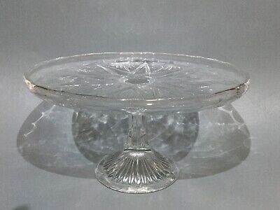 Vintage Pressed Glass Comport / Cake Stand Tazza • 12.50£