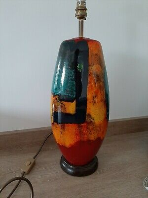 Rare Large Gemstones Poole Pottery Lamp • 124.99£